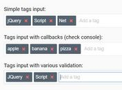 Responsive Tags Input With Autocomplete - jQuery tagsInput