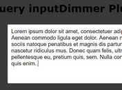 Text Input Focus Effects With jQuery And CSS3 - inputDimmer