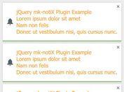 Tiny Growl-like Toast Notification Plugin With jQuery - mk-notiX