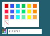 Tiny HTML5 / jQuery Color Picker Plugin - Palette Color Picker