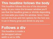 Tiny Responsive jQuery Text Resizing Plugin - Responsive Headlines