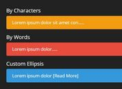 Truncate Text By Words Or Characters - jQuery truncateMe