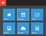Windows 10 Style Animated Navigation Box with jQuery and CSS3