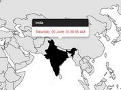 World Time Clock & Map With jQuery And Bootstrap