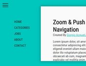 Zoom & Push Navigation With jQuery And CSS3