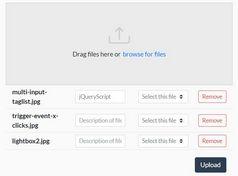 Advanced Drag'n'drop File Uploader - jQuery 5x5jqpi.js