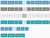 Easy jQuery Paginator For AJAX/Static Contents - pagination.js