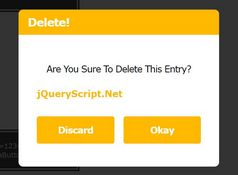 Beautiful Alert/Prompt/Confirm Dialog Alternative - jQuery.alert.js