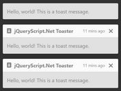 Create Custom Alert Messages Using Bootstrap 4 Toasts Component - Toaster