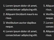 Display HTML Lists In A Multi-column Newspaper Layout - jQuery AutoColumnList