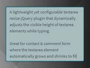 Auto Resize Textarea When Typing - auto-resize.js