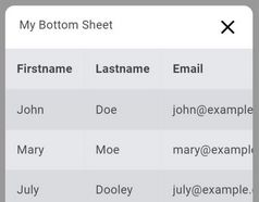 Bottom Sheet Like Sliding Drawer - jQuery downupPopup.js