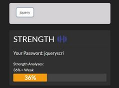 Calculate The Strength Of A Password In jQuery