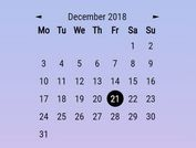 Ultra Simple Calendar With onClick Callback - jQuery jsRapCalendar