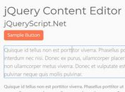 Page Editor Using contenteditble Attribute - jQuery Content Editor