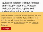 Tiny Clean Cookie Consent Bar In jQuery - GRT