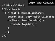 Copy To Clipboard Button Plugin For jQuery - copyToClipboard