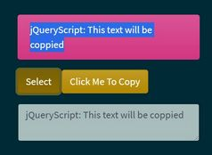 jQuery Plugin To Copy/Paste/Select Text - jQlipboard