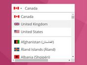 Easy Country Picker With Flags - jQuery country-select