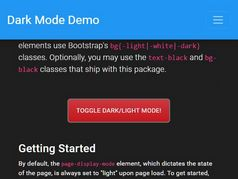 Minimal Dark & Light Mode Toggler For Bootstrap 4