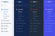 Responsive Dashboard Sidebar Menu Templates - DashNav