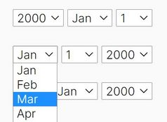 Year/Month/Day Picker With Date Validation - jQuery Picky.js