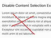 Prevent Content Theft By Disabling Text Selection