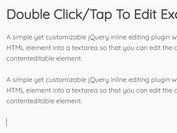 Double Click/Tap To Edit Plugin With jQuery - Editable