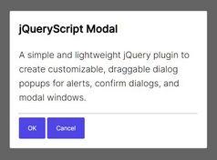 Tiny Draggable Dialog & Modal Plugin - simple-dialog