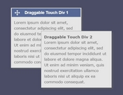 Mobile-first Drag And Drop Library - draggable-div-with-touch.js