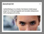 Draggable And Resizable Modal Popup - myOwnDialog.js