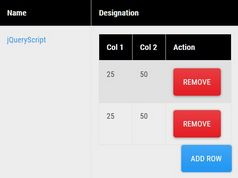 Duplicate & Remove Table Rows With jQuery - patuta-js