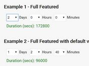 Set Duration In Days, Hours And Minutes - durationPicker.js