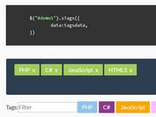 Dynamic Tags Input With Filter Support - jQuery sTags
