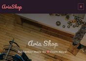 Modern E-commerce Web Template - Aria Bootstrap