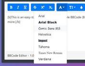 Easy Configurable BBCode Editor In jQuery