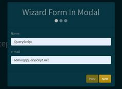 Easy Wizard Control In jQuery - jq-wizard.js