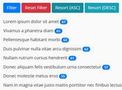Filter & Sort A Group Of Elements Using jQuery Drizzle Plugin