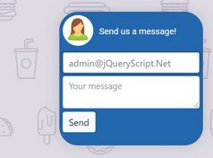 Floating Contact Button (Form) In jQuery - fancyMessenger