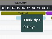 Easy Responsive Gantt Chart With jQuery And Moment.js