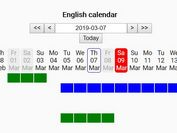Dynamic Horizontal Calendar With Events - jQuery RESCalendar