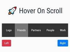 Horizontal Hover To Scroll In jQuery - hoverscroll