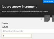 jQuery Arrow Increment/Decrement Input Fields Plugin