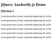 jQuery Auto Anchored Heading Elements Plugin - Anchorify.js