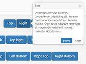 jQuery Based Bootstrap Popover Enhancement Plugin - Bootstrap Popover X
