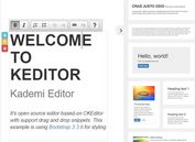 jQuery Based Content Editor and Layout Builder - KEditor