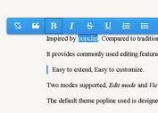 jQuery Based Inplace Html5 Rich Text Editor - Popline