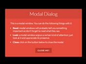 <b>jQuery Based Modal Windows With Cool CSS3 Animations - NiftyModals</b>