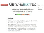 jQuery Character Counter & Scroll Position Indicator Plugin - howmuchread