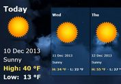 jQuery City Weather Forecast Plugin with YQL - WeatherFeed